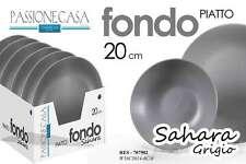 SET 24 PIATTI FONDI SAHARA PASSIONE CASA COLORE GRIGIO 20 CM CUCINA RES-707902