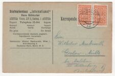 1923 AUSTRIA Cover WIEN to GIELOW GERMANY Postcard SG481 Pair