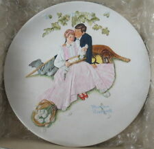 Norman Rockwell Collectible Plates Limited Edition Gorham Flowers Tender Bloom