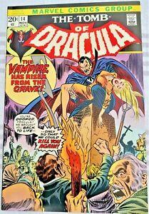 * TOMB of DRACULA 14 (NM 9.4) The Vampire has Risen! OWP WOW! *