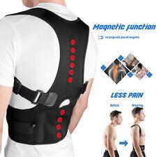 Posture Corrector Support Magnetic Back Shoulder Brace Belt For Men Women Kids