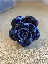 21 Cabinet Door Drawer Pulls Knobs Ceramic Blue Roses