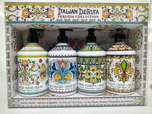 Combo Set 4, Italian Deruta Hand Soap Collection 21.5 FL OZ Each, lavender,...