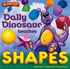 Dally Dinosaur Teaches Shapes  Entertain Kids for Hours  Win 7 8 Vista XP  NEW