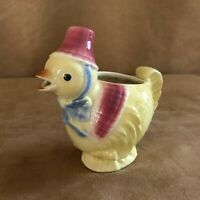 Shawnee Little Chick Art Pottery Vintage creamer patent pend Spaulding chicken