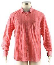 TED BAKER Men's Salmon Pink Stripe NIPANI Long Sleeve Dress Shirt ~ Sz 4 L ~ NEW