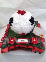 Artificial Silk Funeral Flower Football Wreath Tribute Memorial Any Team False