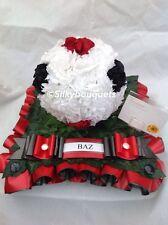 Seda Artificial Corona Fúnebre Flor de fútbol homenaje Memorial cualquier equipo falso