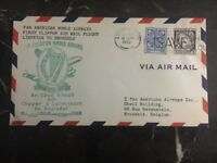 1946 Limerick Ireland First Flight Cover FFC Clipper To Brussels Panamerican