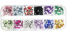 Glow Nail art decorations Rhinestones Flower Design NA84