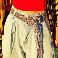 Club Party Luxury Bling Full Rhinestone Metal Net Belt Waist Crystal Rivet Belt