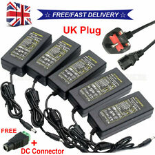 More details for 12v 1/2/3/4/5/6/8/10a power supply ac to dc adapter 5050 3528 led strip light uk