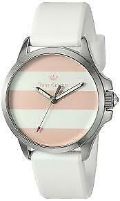 Juicy Couture Women's 1901391 Fergire Rose-Silver Dial Silicone Watch