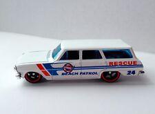 Hot Wheels '64 Chevy Nova Station Wagon Beach Patrol Rescue Car