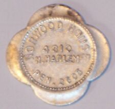 Norwood House vtg trade token EXTREMELY RARE Chicago ILL 4810 N Harlem DEFUNCT