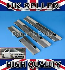 BMW 3 SERIES E46 Chrome Door Sill Panel Scuff Plate Kick Step Protect 1998-2006
