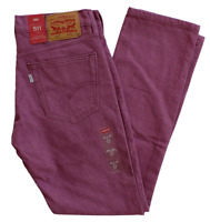 NEW PREMIUM MENS LEVIS 511 SLIM FIT LIGHT PURPLE JEANS 045112254 ALL SIZES
