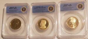 2013 P D S T Roosevelt BU & Proof Dollar Set ANACS 67, 67, 70 1st Strike