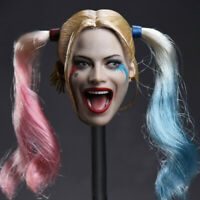 "Delicate Painting 1/6 Scale Suicide Squad Harley Quinn Head Sculpt Fit 12""Figure"