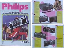 PHILIPS AUDIO BROCHURE 1985 BOOMBOXES WALKMAN