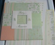 Quilt Cloth Cover Baby's Memories 12x12 Scrapbook Album Boy Girl Papers