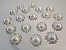 Floral Pins Wedding Bouquet Diamond Pearl Decor 12 pack