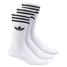 adidas Originals 3-stripes Crew Socks 3 Pairs White Mens UK 8.5 - 11 Running