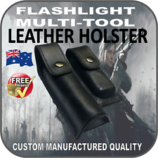 LEATHER HOLSTER POUCH FLASHLIGHT TORCH LEATHERMAN MULTI-TOOL SURVIVAL TACTICAL