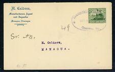 Nicaragua Postal Stationery PSE - H&G #77c 1918 2c/35c CHINANDEGA - MANAGUA $$$