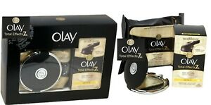 Olay Total Effects 7 BOXED GIFT SET Age Defying Moisturiser +Mirror + Wet Wipes