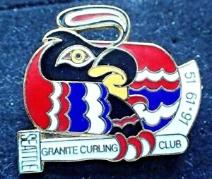 RARE Curling Club Pin - Granite Curling Club Seattle 51-61-91