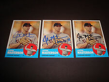 Justin Masterson Indians 2012 Topps Heritage #14 Signed Authentic Autograph 920