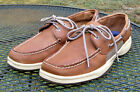 Sperry Top-Sider Leather Deck/Boat Shoes brown 2 Eye Tie Mens Loafer 11