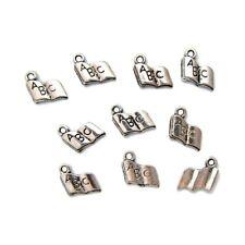 10 Breloques _ LIVRE OUVERT arg. 12X11mm _ Perles charms création bijoux _ B036