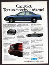1988 CHEVROLET Corsica Vintage Original Print AD - Blue car photo 4-door Beretta