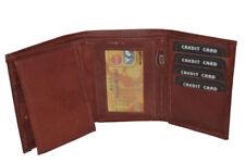 Cartera apaisada/de bolsillo de hombre en color principal marrón