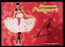 Vanessa Neigert Autogrammkarte Original Signiert ## BC 47585
