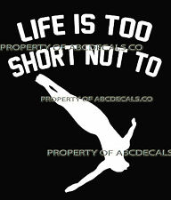 LIFE 2 SHORT DIVING Cliff Freestyle High Dive Male Car Decal Wall Sticker