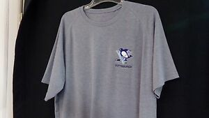 Pittsburgh Penguins Blue Phase Embroidered Performance T-Shirt XS-4XL New