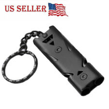 Fine 150db Double Pipe Whistle High Decibel Stainless Steel Outdoor Emergency Survival Whistle Keychain Cheerleading Whistle Home