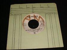 """THE POLICE<>DE DO DO DO, DE DA DA<>45 Rpm,7"""" Vinyl~Canada  Pressing~A&M AM-2275"""