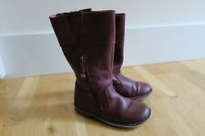 Kickers Groove Up 25 8.5 Bordeaux Leather Girls Ridding Tall Boot