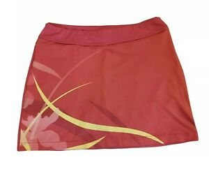 UNDER ARMOUR Pink & Yellow Running Fitness Skirt Skort - Size S - Loose Fit