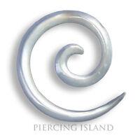 1,5mm Ohrringe Dehnungsspirale Muschel Perlmutt Piercing 227
