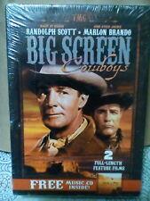 Big Screen Cowboys (DVD, 2006) Marlon Brando Randolph Scott One-Eyed Jack's New