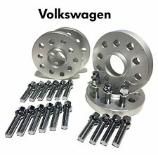 4 20MM VW AUDI 5x100 / 5x112 Hubcentric Wheel Spacer with Ball Seat Lug Bolts OE
