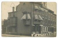 RPPC Corner Block Row Houses in PHILADELPHIA PA Vintage Real Photo Postcard