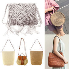 ea3680668f Women Vintage Woven Shoulder Handbag Beach Tote Purse Summer Travel Straw  Bag