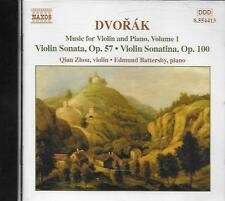 CD album: Dvorak: Music for Violin and Piano, Vol.1. Zhou. Battersby . naxos. M