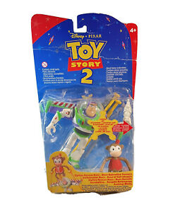 Toy Story 2 Buzz Lightyear Zipline Rescue Buzz String Glide Action Disney Pixar